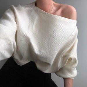 Sale Ribbed Dolman Crop Knit